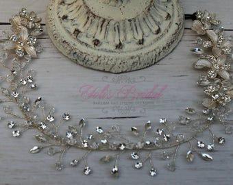 FAST SHIPPING!! Bridal Hair Comb, Swarovski  Hair Comb, Crystal Hair Comb, Swarovski Hairband