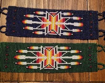 Beaded Southwest Pattern Bracelet