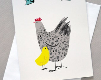Hen and Chicken, Mother's Day Card, For Mom, Wholesale