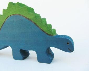 Wooden Stegosaurus toy Wood Waldorf Dinosaur