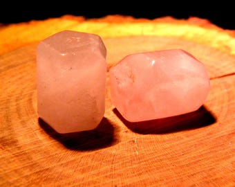 big block cube rose quartz 20 mm x 15 - PF137