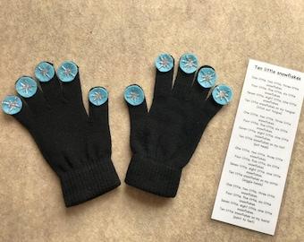 Ten Little Snowflakes gloves