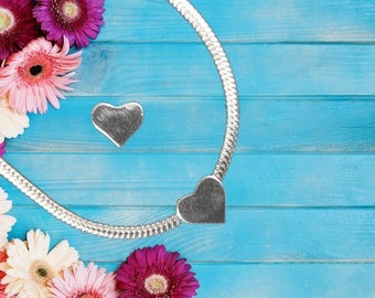 Sterling Silver 'Heart' Charm Necklace With Gift Box