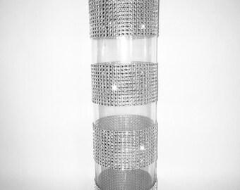Partial Rhinestone Vase Centerpieces - PEGGY