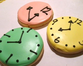Tick tock Custom clock sugar cookies (3 dozen)