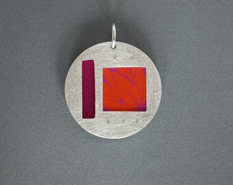 SMaddock Studio33 OOAK Sterling Silver Recycling Layered Window Pendant
