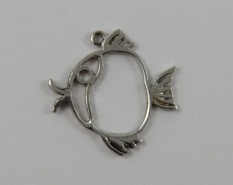 Fish Sterling Silver Vintage Charm For Bracelet