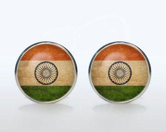 Indian flag Cufflinks personalized flag Cuff links custom gift for man gift for boyfriend Christmas gift idea wedding cufflinks groom