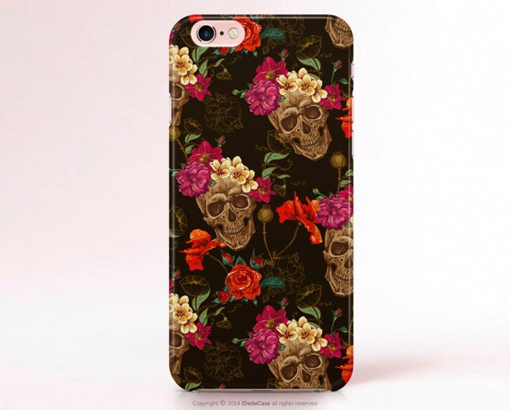 Skull iPhone 6s case Floral iPhone 6 case floral Note 5 Case Skull iPhone 6s Plus Case Helloween iPhone 7 Plus case Samsung Galaxy S7 Case