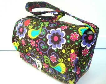 """Large 4"""" Size Coupon Organizer / Coupon Bag /Budget Holder Box Attaches to Your Shopping Cart  Bird Song Pick your Size"""