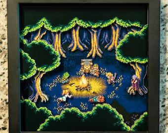 Chrono Trigger (SNES) Shadowbox - Fiona's Forest
