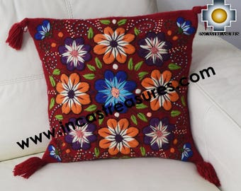 100% Alpaca Cushion Cover Colibri Red