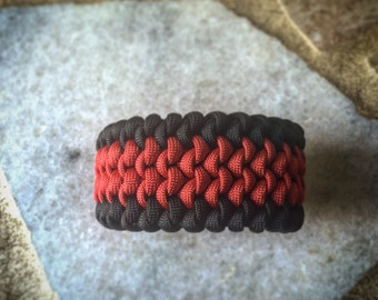 550 Paracord Mated Snake Knot Survival Cuff