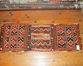 Etsy's 13th Birthday Sales Saddle Bag, Kilim Saddlebag, Turkish Nomadic Saddlebag,Home decor,Heybe 1,63*0,54 cm