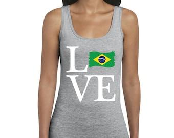 Love Brazil  Women Tanks Tank Tops