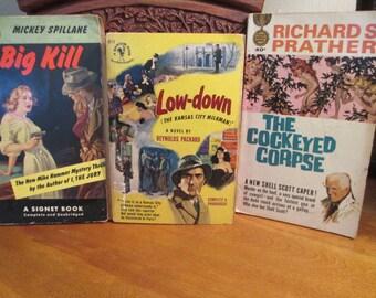 Detective Paperback Books (3)