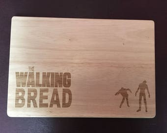 The Walking Dead – Walking Bread Chopping / Bread Board Personalised