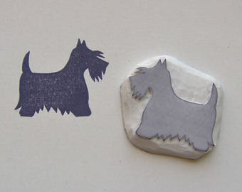 Scottish terrier rubber stamp, Scottish terrier stamp, dog stamp, terrier rubber stamp, scottie dog stamp, pet stamp, dog rubber stamp, diy