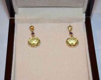 Stamped 14KT Yellow Gold Earrings