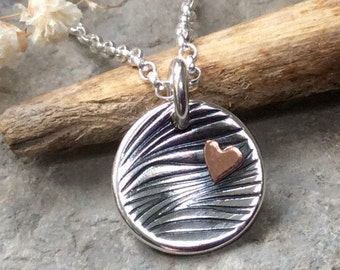 Gift for wife, girlfriend gift, dainty necklace, everyday necklace, unique necklace, birthday gift, anniversary gift, fine silver, copper
