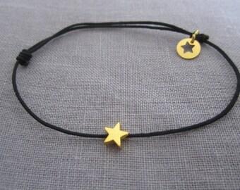 Bracelet sliding cord star