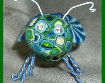 Dewdrop, a bug sculpture