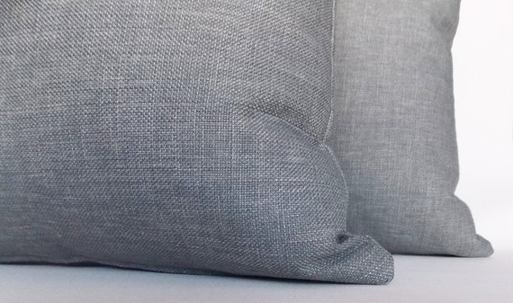 Moderne Kissenbezüge set aus 2 grau leinen grau dekorative kissen modernes