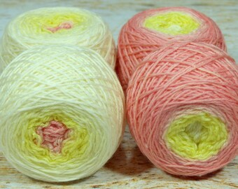 "Sock Twins "" You Can Hear The Ocean "" - Lleaf Handpainted Gradient Sock Yarn"