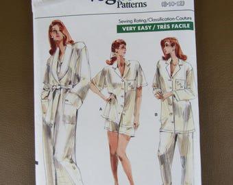 Vintage Vogue pattern 7054 Women's sleepwear from 1987