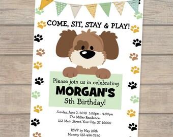 Dog invitations etsy puppy invitation dog birthday invitation doggy invitation puppy birthday invitation doggy birthday party invitations puppy invite filmwisefo