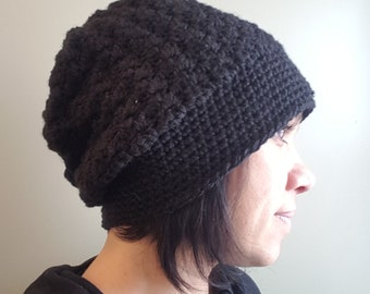 Handmade slouchy crochet hat