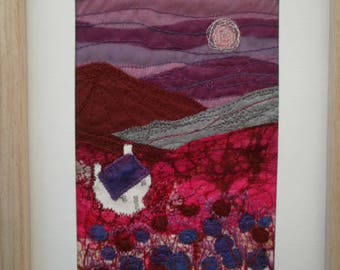 Purple Mountain Textile Art