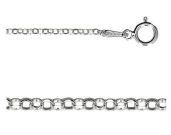 20 Inch Italian Sterling Silver 1.5mm DIAMOND CUT Rolo Chain, Solid 925 Sterling, U.S.A. Seller, Fast Shipping (CS114-20)