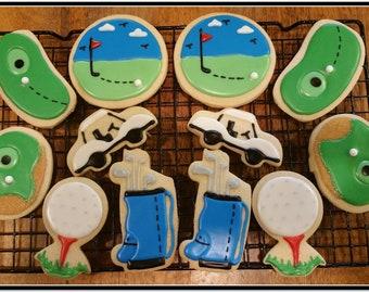 Golf Cut Out Sugar Cookies - 1 Dozen
