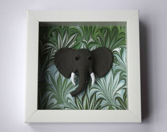 Elephant Wall Art / Living Room Wall Decor / Elephant Art / Modern Wall  Decor /