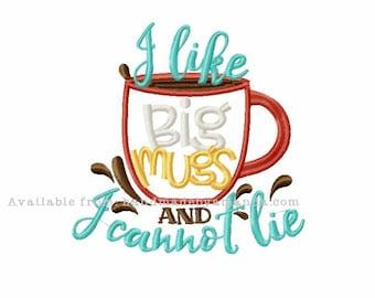 I like BIG mugs and I cannot lie kitchen COFFEE towel - Coffee Quote hand towel - Kitchen towel for Coffee lovers