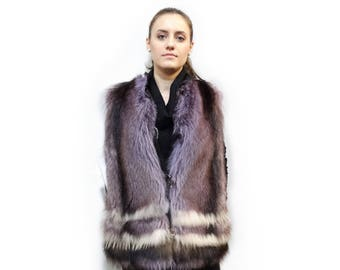 Real Fur Raccoon Vest,Fashion Teenager Raccoon Vest F407
