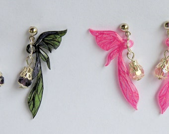 Moth Wing Earrings, Fairy, Custom Colors