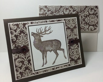 Elk Birthday Card - Hunter Card - Hunting Gift - Deer Hunter - Deer Card - Handmade