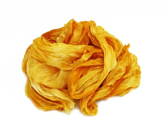 ochra silk scarf - Honey - ochra, yellow, golden yellow silk scarf