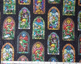 Zelda Fabric, Yardage or Fat Quarter, FQ, The Legend of Zelda: The Wind Waker Fabric, Link from Zelda, Zelda Windwalker, Triforce Fabric