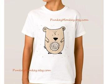 Hamster t-shirt enfants ADO chemise choisissent que votre taille xs s m l 100 pour cent coton t-shirt tagless garçons filles pet hamster Harvey kawaii mignon