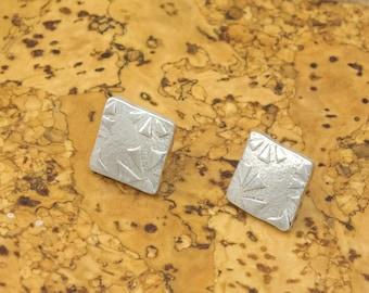 Sterling Earrings - Silver Earrings - Zentangle Earrings - Post Earrings - Stud Earrings
