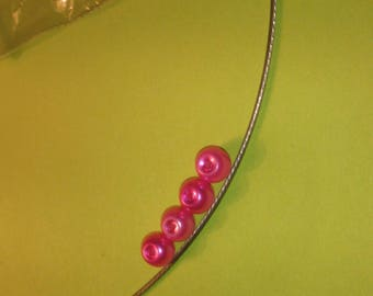 Round Pearl 6 mm Fuchsia pink glass beads
