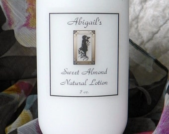 2 oz. Sweet Almond Handmade Natural Lotion by abigail's on Main