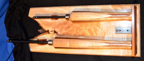 Matched Set of Woodturning Tools with Display Board 21-16