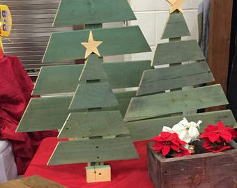 SET of  ** 3  adorable Christmas trees ** 1 Small, 1 Medium, *AND*  1 LARGE