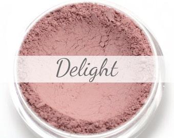 "Pink Blush Sample - ""Delight"" (.75g Net wt) - Vegan Matte Blush"