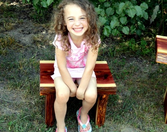 Cedar Bench, Live Edge Cedar Bench, Wood Bench, Kid Bench, Decorative Bench,
