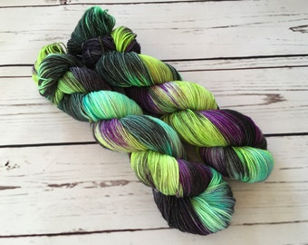 Galactic Hand Dyed Superwash BFL/ Nylon Sock Yarn